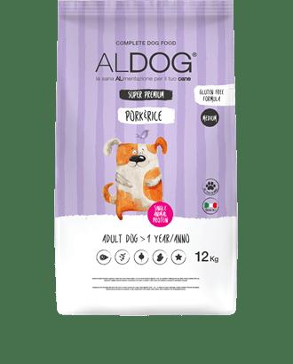 Aldog Pork and rice 12 kg MEDIUM fronte